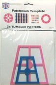 """Patchwork Quilting Template /""""Squares/"""" by DoDadDesigns.com"""